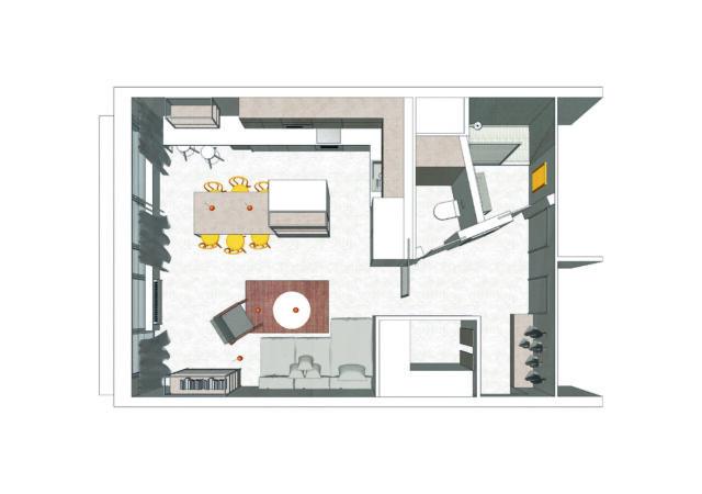 Rekonstrukce bytu se stěrkou